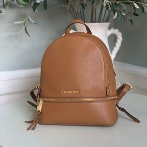 Micheal Kors Rhea Medium Leather Backpack